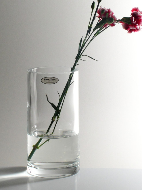 Cylindrical Glass Vase H20cm D10cm