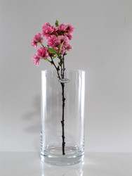 cylindrical glass vase H30cm D15cm