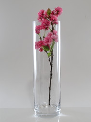 cylindrical glass vase H50cm D15cm