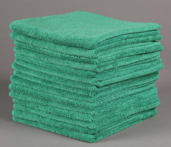 Wholesale Microfiber Bath Towels: 16x16 Green Microfiber Towels