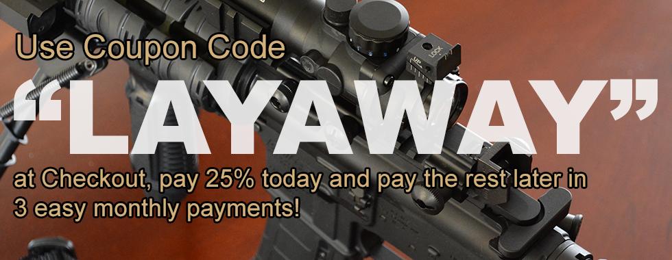 Layaway 25% Down