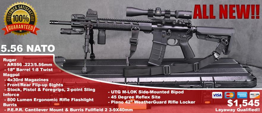 """Ruger AR-556 18"""" M-LOK"""