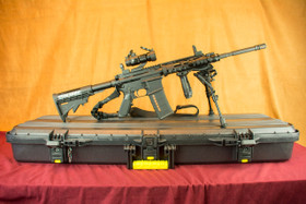 Left Handed Stag Arms 3L AR-15 with Diamondhead Rail SuperKit Right Side on Case
