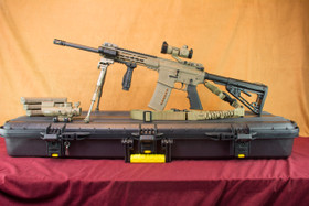 Diamondback AR-15 DB15CKMFDE SuperKit Left Side with Magpul Magazines and Tacfire Scope on Plano Case