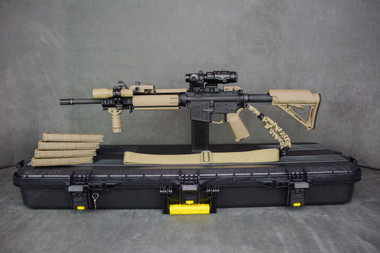 Desert Cameo Colt Expanse AR-15 .223/5.56mm SuperKit! Left Side on Plano Case