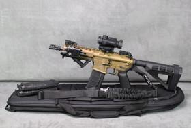 DB15P AR-15 Tactical Pistol In Bronze New Upgraded LoPro Mini Laser/Flashlight Combo