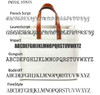 Fulham Personalized Monogram Canvas Tote w/ Leather Straps - Fonts