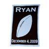 Personalized Name & Bday Football Blanket -Cashmere or Acrylic