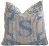 Personalized Monogram Pillow with Scroll