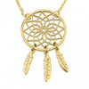 Dream Catcher Necklace - 24K Gold Plated