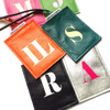 Sasha Personalized Initial Luggage Tag, Customized Leather Luggage Tag,  Personalized Wedding Luggage Tag