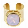 Poppy Adjustable Gemstone Ring - Light Pink