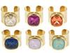 Poppy Adjustable Gemstone Rings