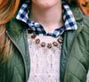 Serena Crystal Necklace - Tortoise