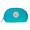 Trucco Monogrammed Nylon Make Up Bag - Aqua