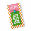 Travel Seek Explore Discover Live Be Free Luggage Tag - Packaging