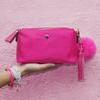 Vail Faux Fur Pom Pom Keychain - Bubblegum Pink