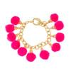 Fiesta Pom Pom Bracelet - Pink