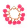 Fiesta Pom Pom Bracelet - Neon Pink