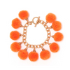 Fiesta Pom Pom Bracelet - Orange
