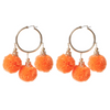 Fiesta Pom  Pom Earrings Orange