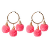 Fiesta Pom Pom Earrings pink