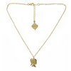 Girl Silhouette Necklace - Gold Finish