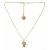 Boy Silhouette Necklace - Gold Finish