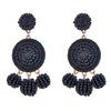 Nelly Beaded Earrings - Black