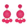 Nelly Beaded Earrings - Hot Pink