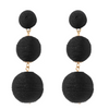 Wellington Drop  Earrings - Black