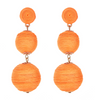 Wellington Drop  Earrings - Orange