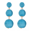 Wellington Drop  Earrings- Turquoise