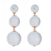 Wellington Drop  Earrings - White