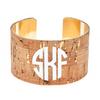 Monogrammed Kylie Cork Cuff Bracelet