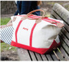 Haley Canvas & Leather Weekender - Red