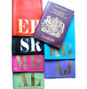 Mia Initial Leather Passport Covers - Assorted Colors
