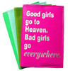Good Girls Go to Heaven. Bad Girls Go Everywhere Passport Cover - Mae West,  Bright, Bold, Cheeky, Fun Passport Cover, Bespoke Passport Cover