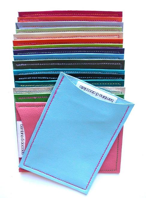 Sasha Leather Business Card Holder, Credit Card Sleeve, Sasha Travel Card Holder