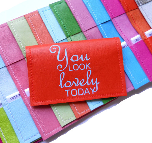 You Look Lovely Today Leather Business Card Holder & Credit Card Sleeve