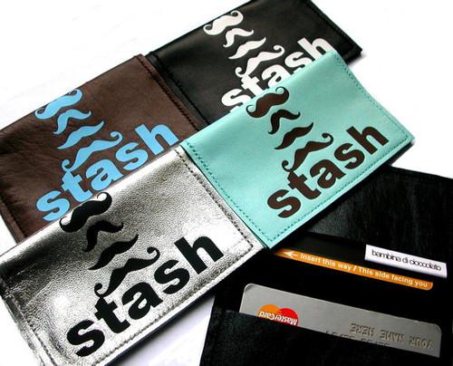 Moustache Metro Card Holder, Stash Credit Card Case