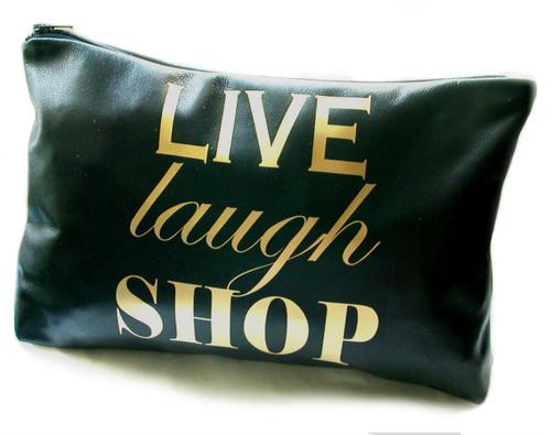 Live Laugh Shop Leather Toiletry Bag & Wash Bag