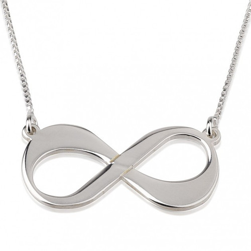 Infinity Symbol Love Necklace - Sterling Silver