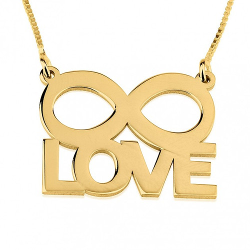 Endless Love Infinity Necklace - 24 K Gold Plated