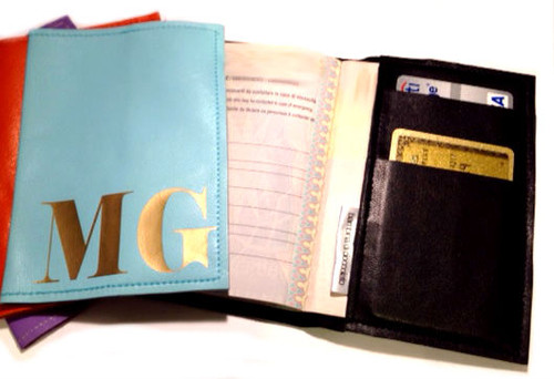 Mia Personalized & Monogram Leather Passport Cover Wallet