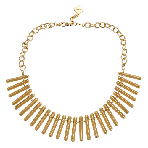 Farrah Brushed Gold Necklace - Gold Plated