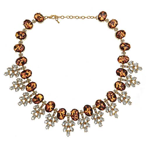 Serena Crystal Necklace Tortoise