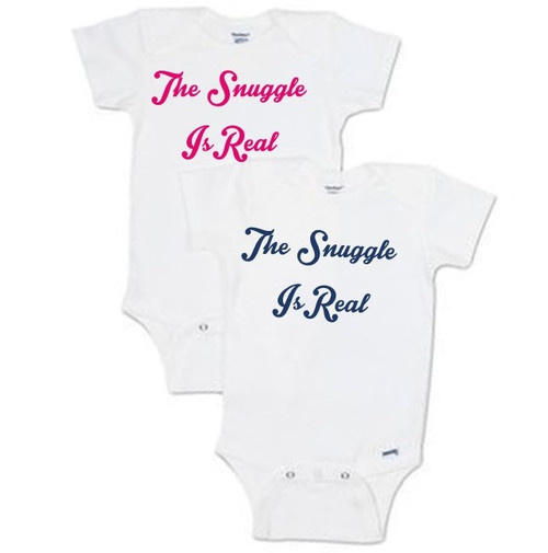 The Snuggle Is Real  - Hot Pink, Navy