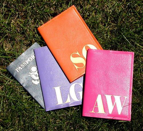 Mia Custom Passport Holder, Mia Initial Personalized Passport Cover, Bespoke Passport Cover