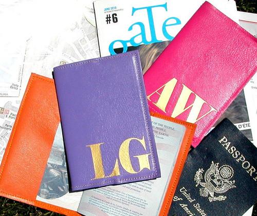 Mia Personalized Passport Cover, Customised Passport Holder